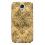 Sepia Faded Vintage Floral Galaxy S4 Cases