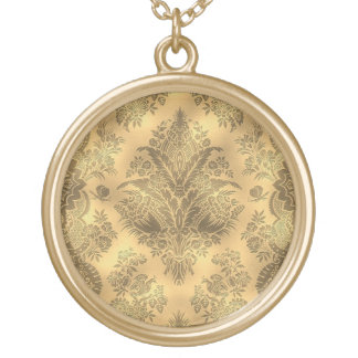 Sepia Faded Vintage Floral Custom Jewelry