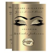 Sepia Faux Gold Black Glitter Bridal 16th Card