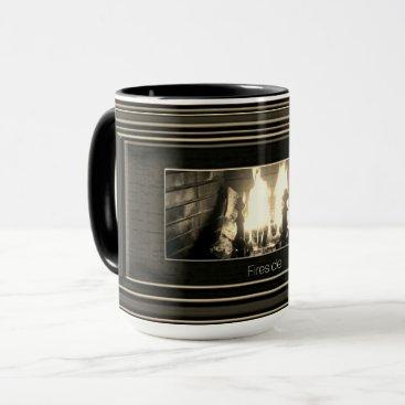 Beach Themed Sepia fireside mug