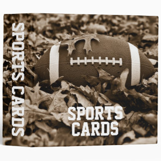 "Sepia Football 2"" Sports Cards Album 3 Ring Binder"