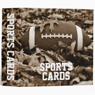 "Sepia Football 2"" Sports Cards Album 3 Ring Binder"
