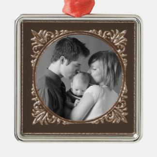 Sepia Frame Metal Ornament
