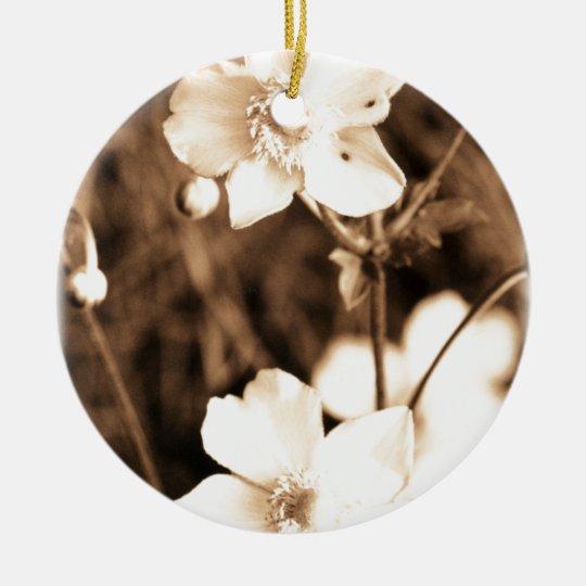 Sepia Garden Ceramic Ornament