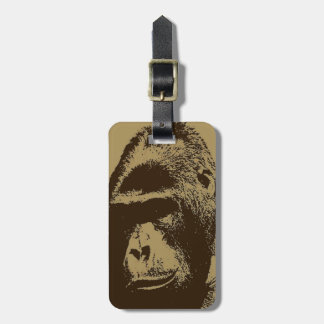 Sepia Gorilla Luggage Tag