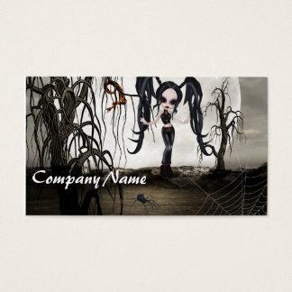 Sepia Goth Girl Business Card