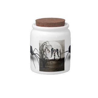 Sepia Goth Girl Candy Jars