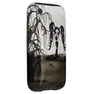 Sepia Goth Girl Tough iPhone 3 Cases