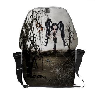 Sepia Goth Girl Courier Bag