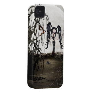 Sepia Goth Girl iPhone 4 Covers