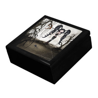 Sepia Goth Girl Jewelry Box