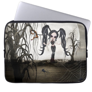 Sepia Goth Girl Laptop Sleeve