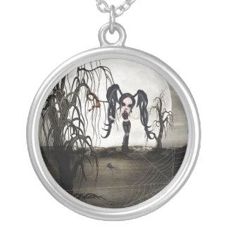 Sepia Goth Girl Pendants