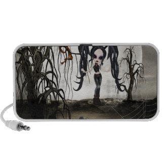 Sepia Goth Girl Speaker System