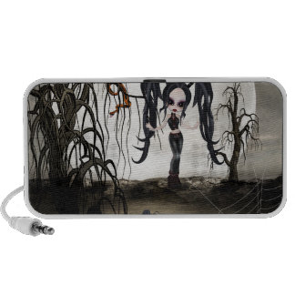 Sepia Goth Girl Travelling Speakers