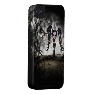 Sepia Goth Girl Vignette Case-Mate iPhone 4 Case