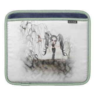 Sepia Goth Girl Vignette iPad Sleeves