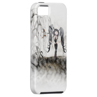 Sepia Goth Girl Vignette iPhone 5 Covers