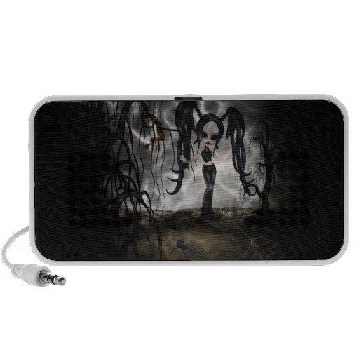 Sepia Goth Girl Vignette Laptop Speakers