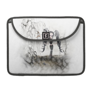 Sepia Goth Girl Vignette MacBook Pro Sleeves