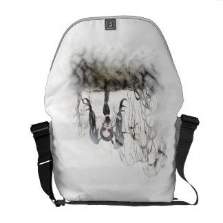 Sepia Goth Girl Vignette Messenger Bag