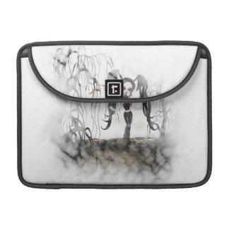 Sepia Goth Girl Vignette Sleeve For MacBooks