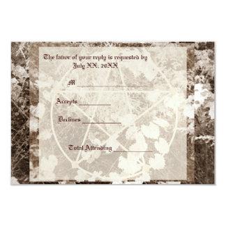 Sepia Grapevine Wedding/Handfasting Pentacle Suite Card
