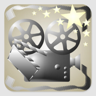 Sepia Gray Movie Cinema Theatre Sticker