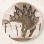 Sepia Gregory Paul del Stegosaurus del práctico de Posavasos De Arenisca