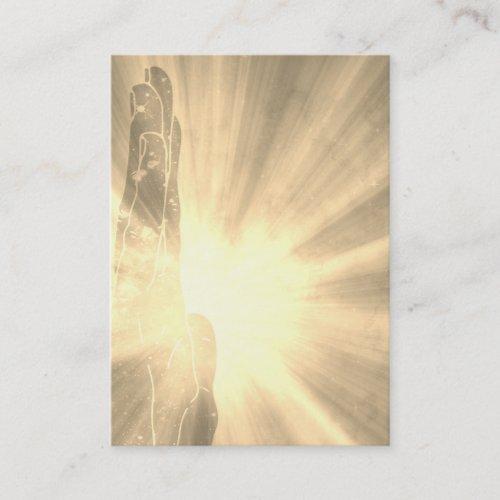 Sepia Healer Rays Healing Hand Light worker Business Card