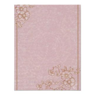 Sepia Henna Flowers RSVP Card