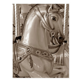 Sepia Horse Postcard