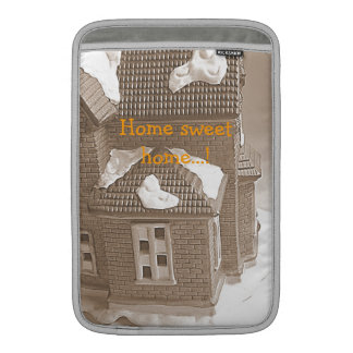 Sepia house sleeve for MacBook air
