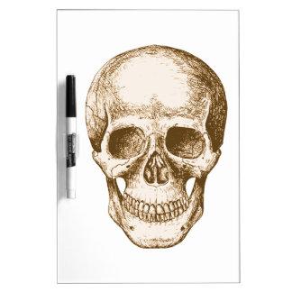 Sepia Human skull face Dry Erase Whiteboards