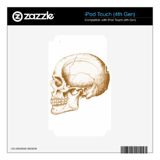 Sepia Human Skull iPod Touch 4G Decals