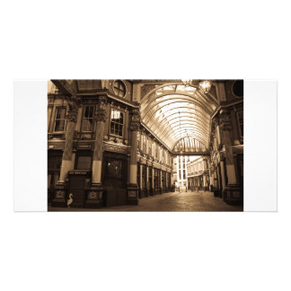 Sepia image Of Leadenhall Market London Card