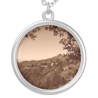 Sepia Image of The San Bernardino Mountains necklace