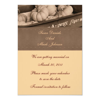 Sepia Indian Corn Fall Wedding Save The Date Card