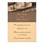 "Sepia Indian Corn Fall Wedding Save The Date 5"" X 7"" Invitation Card"