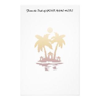 sepia invert.png de las casas de isla de la playa papelería de diseño