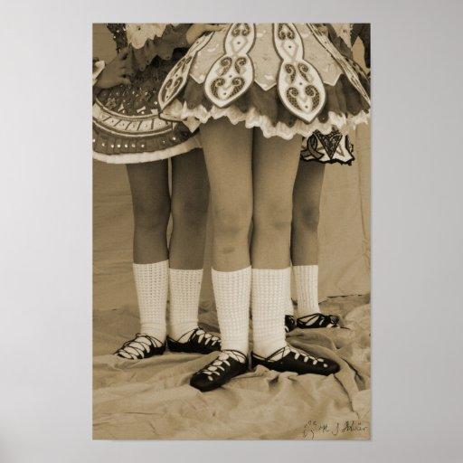 Sepia Irish Dance Poster