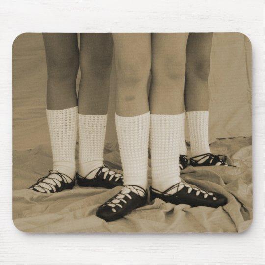 Sepia Irish Dance Soft Shoes Mousepad