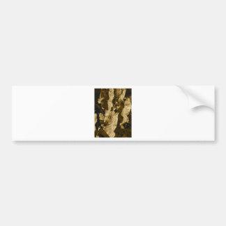 sepia leaves bumper sticker