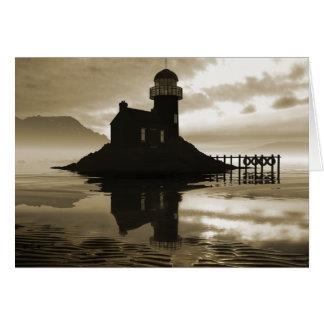Sepia Lighthouse Card
