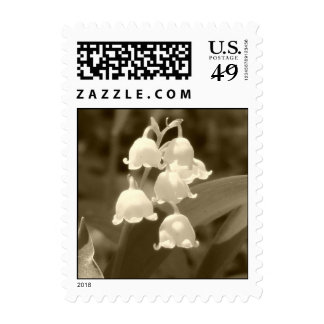Sepia Lily of the Valley Postage