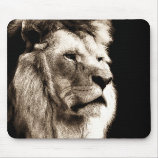 Sepia Lion Mouse Pad