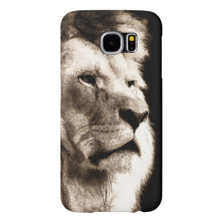 Sepia Lion Samsung Galaxy S6 Cases