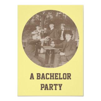 Sepia Mens Celebration Party Bachelor Invitation