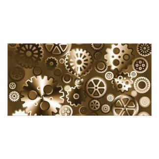 Sepia metallic gears card