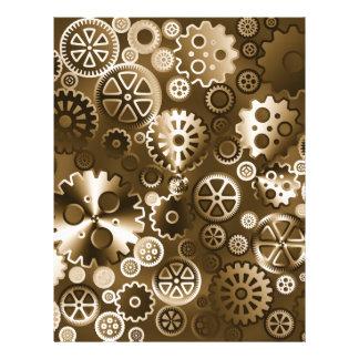 "Sepia metallic gears 8.5"" x 11"" flyer"